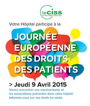 Journée Européenne des Droits des Patients - édition 2015