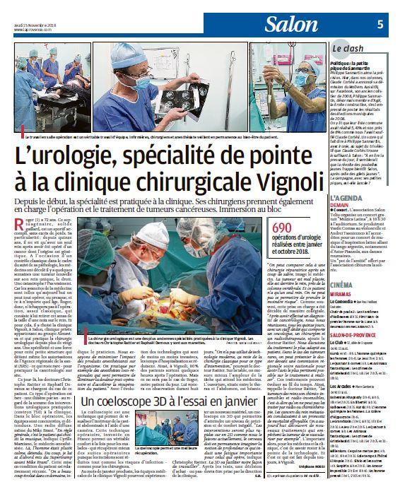 L'urologie, spécialité de pointe à la clinique chirurgicale Vignoli