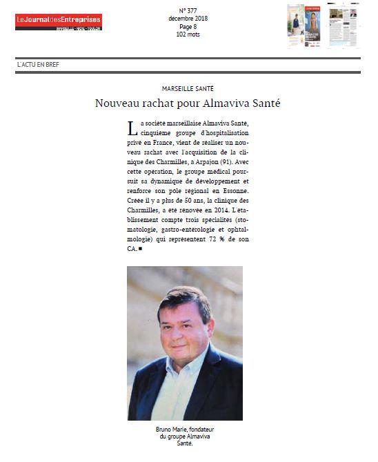 Nouveau rachat pour Almaviva Santé