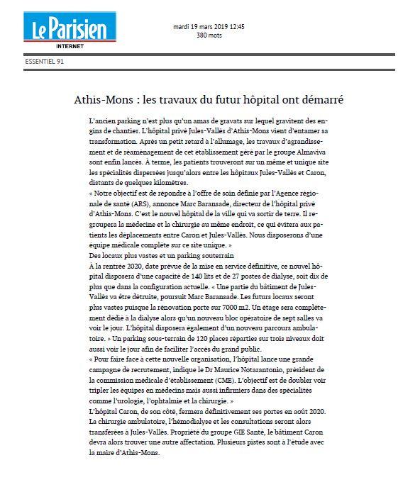 Athis-Mons les travaux du futur hôpital ont démarré