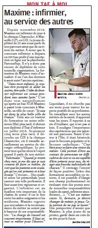 Maxime: infirmier, au service des autres