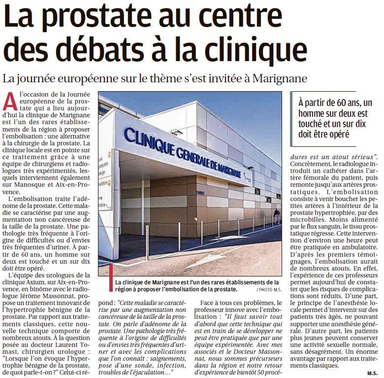 La prostate au centre des débats à la clinique