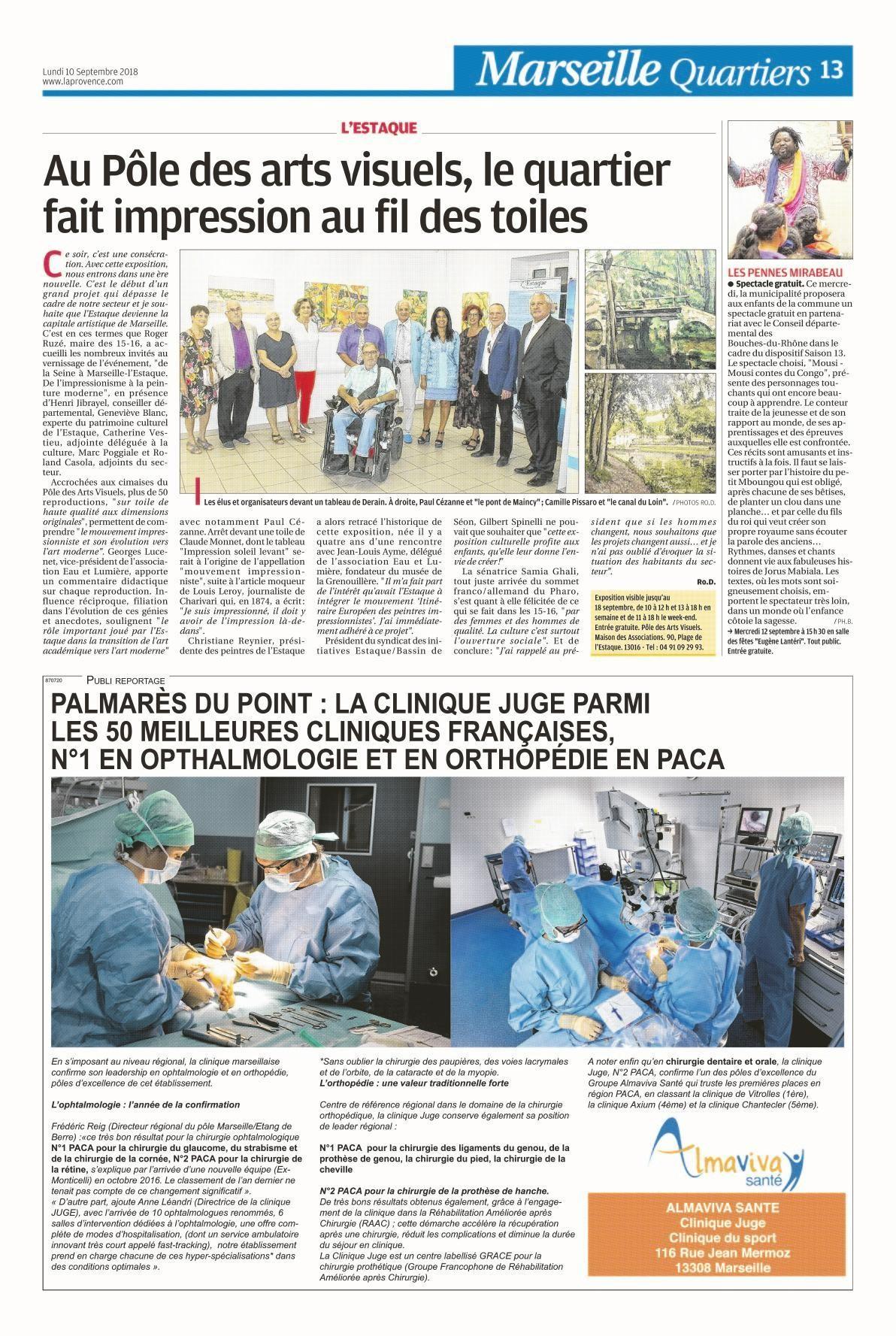 La clinique Juge parmi les 50 meilleures cliniques françaises