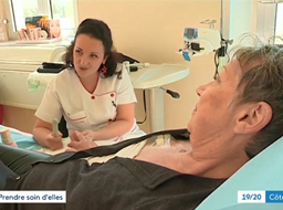Dans le 19/20 de France 3, l'atelier socio-esthétique en cancérologie