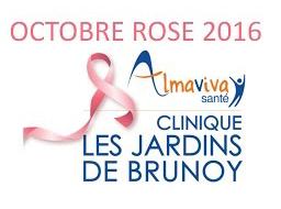 Octobre Rose 2016 à la Clinique Les Jardins de Brunoy